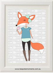 Hipster Foxette Print