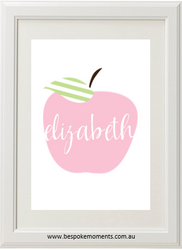 Apple Name Print