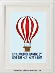 Product image of Little Balloon Floating By Print