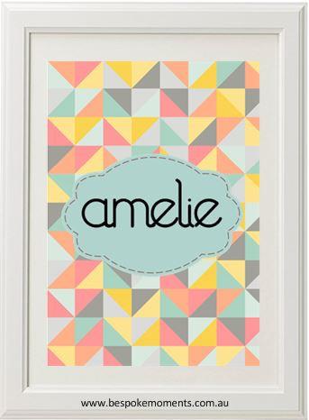 Product image of Geometric Name Print