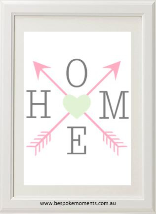 Product image of Home Arrow Print