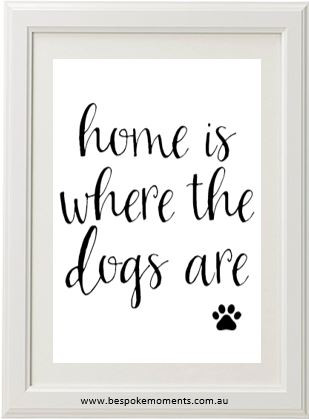 Product image of Home Is Where The Dogs Are Print