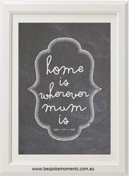Product image of Home Is Wherever Mum Is Print