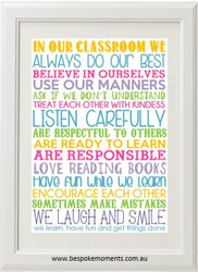 Personalised Classroom Rules Print