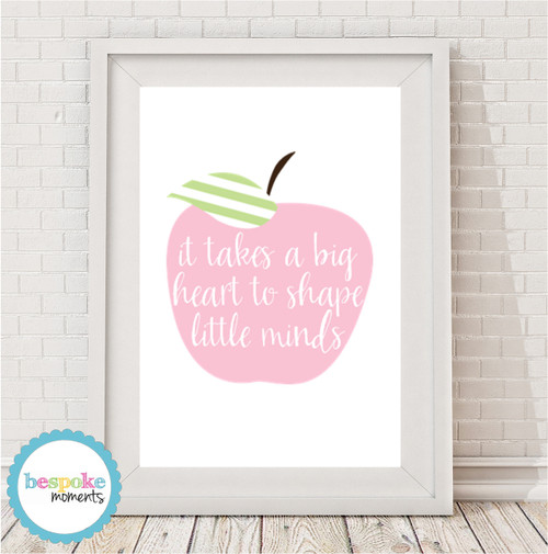 Product image of It Takes A Big Heart Pastel Apple Print