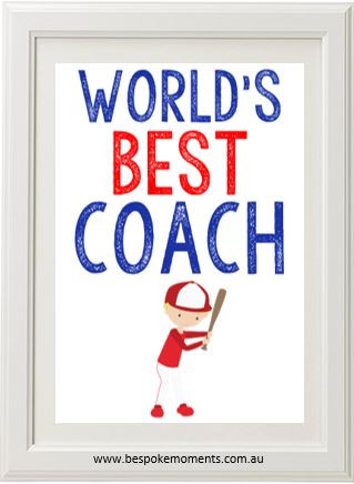 Product image of World's Best Coach Print