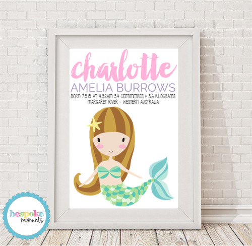 Product image of Mermaid Birth Print