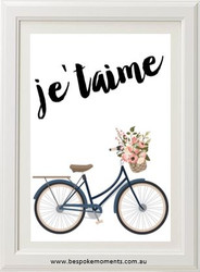 Je'taime Vintage Bicycle Print