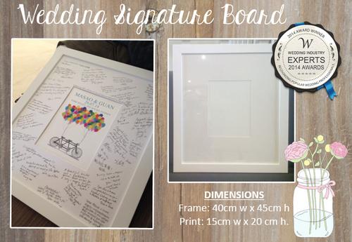Product image of Chalk Hearts Wedding Print