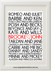 Famous Couples Wedding Print