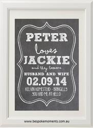 White Chalk Wedding Print