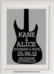 Electric Guitar Wedding Print