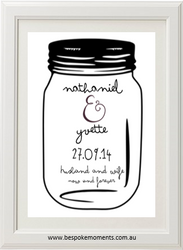 Mason Jar Wedding Print