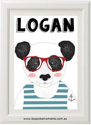 Product image of Panda Name Print