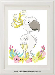 Zany Cockatoo Floral Print