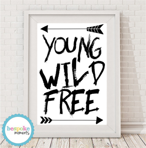 Product image of Young Wild Free Monochrome Print