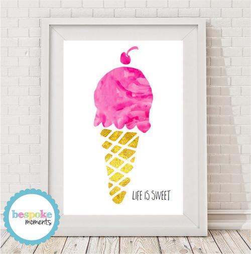 Product image of Watercolour Gelato Icecream Print