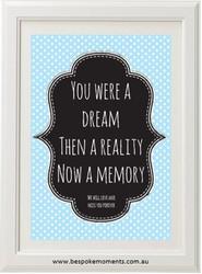 Dream Reality Memory Print
