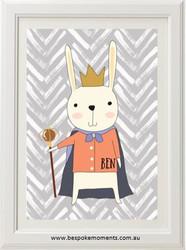 Product image of Royal Rabbit Name Print