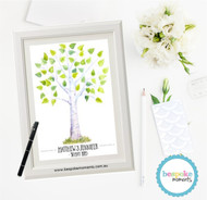 Watercolour Wedding Signing Tree