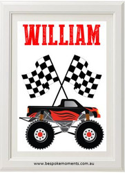 Monster Truck Name Print
