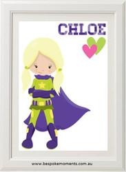Girls' Superhero Name Print