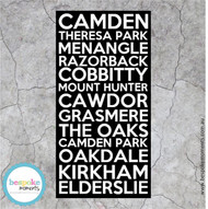 Camden NSW Bus Scroll Canvas