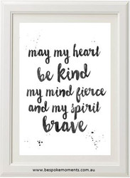 Kind, Fierce, Brave Print
