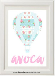 Tilda Hot Air Balloon Name Print