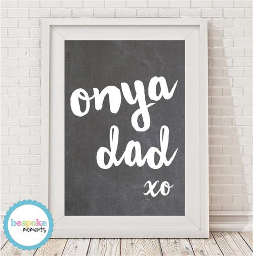 Product image of Onya Dad Chalkboard Print