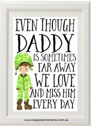 Daddy We Miss You - Army Uniform 1