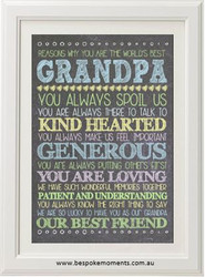 Personalised Best Grandpa Print