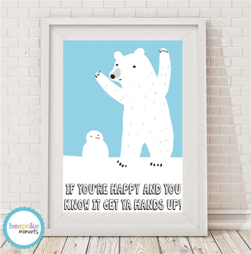 Product image of Happy Polar Bear Print