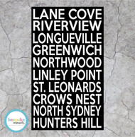 Lane Cove NSW Bus Scroll Canvas