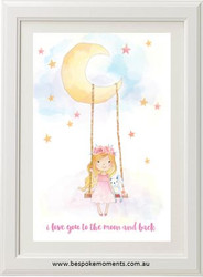 Moon Swing Watercolour Print