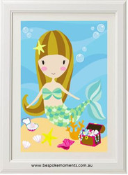 Lucy The Mermaid Print