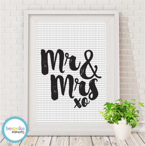 Product image of Mr & Mrs Print - Various Styles