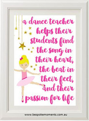 Dance Teacher Print