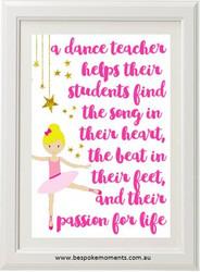 Dance Teacher Print