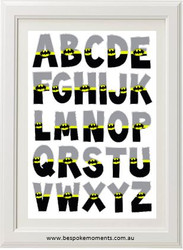 Batman Alphabet Print