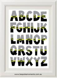 Batman Alphabet Print