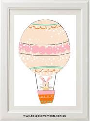 Hot Air Balloon Bunny Print