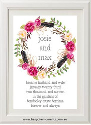 Birds Of A Feather Wedding Print