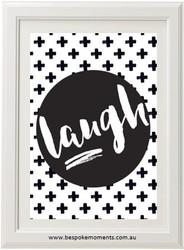 Monochrome Laugh Print