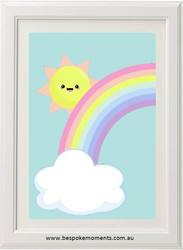 Peeking Sun Rainbow Print