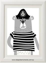 Ahoy Bear Print
