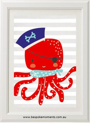 Pirate Octopus Print