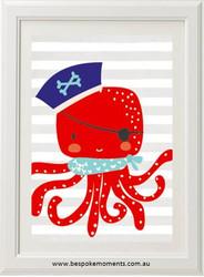 Pirate Octopus Print