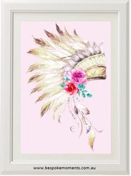 Boho Tribal Headdress Print
