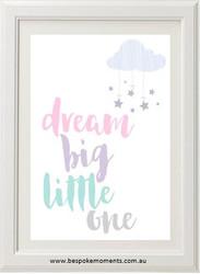 Dream Big Pastel Print